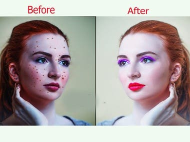 I am a professional Graphics Designer. I have 4 years of experience in Photoshop field. I will do any image retouching, Spot remove, Background remove, Object remove, Beauty retouching, Remove reflection etc