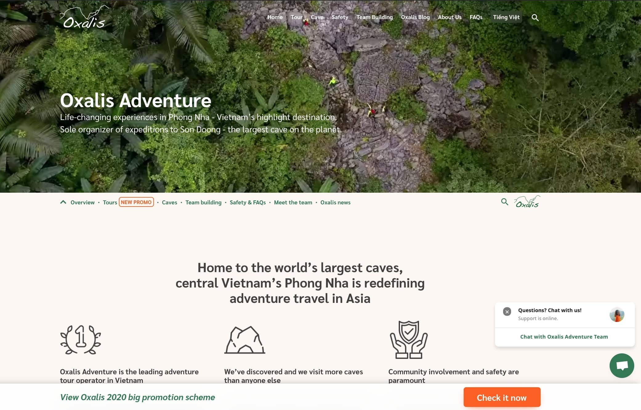 best small business websites oxalis adventures