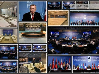 black sea economic businessmen congress. Summit with the participation of all countries in the Black Sea region, high level protocol participation and participation of country leaders. All space planning, meeting rooms etc. planning, dividing the whole area into regions, productions and applications. Furniture designs and productions in accordance with the protocol.