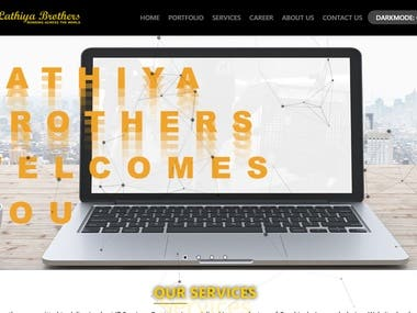 I developed website and design logo for Lathiya Brothers. It's a best website and logo. Totally unique logo. Fully responsive website. Totally user friendly. We can operate in any devices like mobile, tab, etc. I sure that if you check once you definitely like it. So please check it once.  Link : https://lathiyabrothers.com/