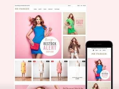 Build shopify web store