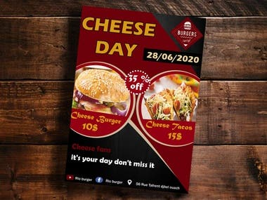 cheese day flyer