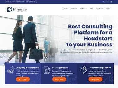 Website for Firmsap Consulting LLC  Live at https://www.firmsapconsulting.com/
