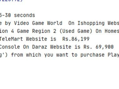 This is a multiple website web scrapping projects which scraps almost 8 shopping websites and find best price product