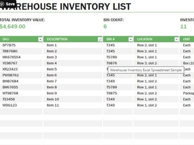 Using this Supply & Inventory Management with Operating Cost, you have the chance to calculate your planned orders, create, edit and release your purchase orders according to your needs. Here is what you can do:  1.    You can add or create new products and suppliers in a simple Master Data Worksheet with automatic code numbers for each SKU and Supplier.  2.    According to Master Data input, replenishment planning will be automatically calculated in 24-month planning horizon.  3.    In Planned Order Worksheet, you can get the Planned Orders by Supplier and convert them as Purchase Orders.  4.    You can edit or delete Purchase Orders and replenishment planning will be automatically updated accordingly.  5.    Save any Purchase Order as PDF format and send them to your supplier.  6.    You can perform Goods Receive Process in order to update your inventory.  7.    Operating Cost is calculated for import products.  8.    Create Planning Scenario Chart Report and Expected Gross Margi