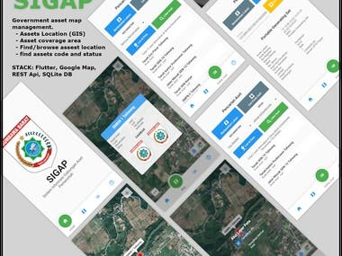 SIGAP app, is a government assets management using Google Map, Geo Tagging, Geo location, and Place API.