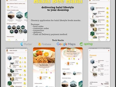 Halal Bee is a food and lifestyle retail apps. Its help customers to buy halal (fork and alcohol free) products to help improving their lifestyle and health. This apps including Backend, Recommendation system, transactions, and delivery.