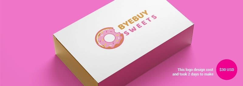 small business logos byebuy sweets