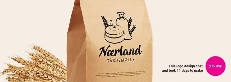 small business logos Nærland gårdsmølle