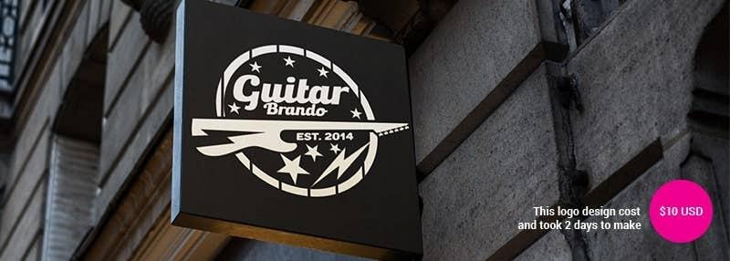 small business logos guitar brando