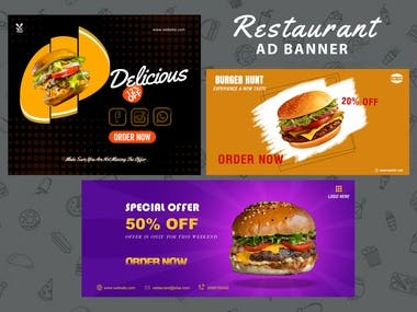 Social Ads are pretty popular now. For one's online or offline business or for self promotion social media ad banners are needed. So it should more attractive & more eye catchy. I can professionally create awesome designs for your desired ad banner.If you need an ad banner, Feel free to contact me!
