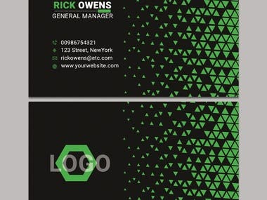 Represent your identity & also your profession identity with a modern professional eye catchy business card. Feel free to contact me for modern & eye catchy business card design.