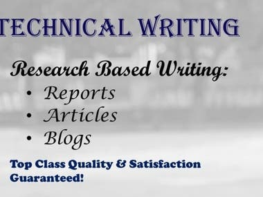 I have proven work experience in writing reports, articles, blogs, etc.