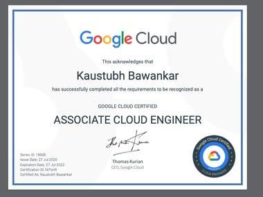 Google cloud Certified Cloud Enginner-Associate