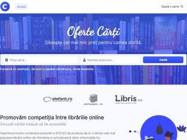 A search engine that finds the lowest prices in Romanian online bookstores.