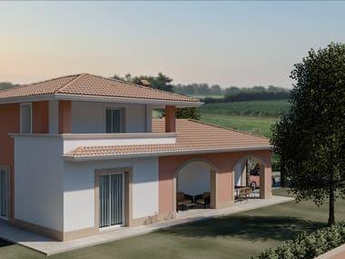 Progetto di villa unifamigliare in nord Italia.