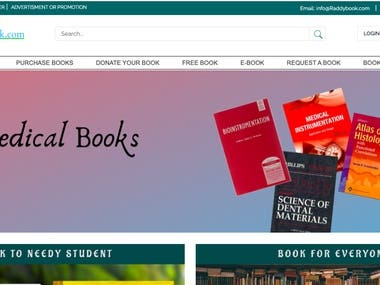 Marketplace website for book store,