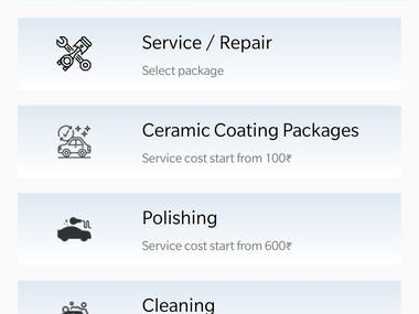 In this application we develop a 2 mobile application for client as follow 1) client app - published on play store 2) admin app - handover to respective authority also designed and developed website and admin panel you can visit at www.carspanz.com