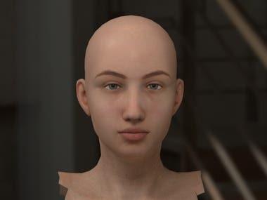 Realistic Human Skin 3D Arnold Render in Maya