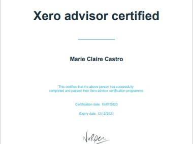 Passed the Xero Certification Exam