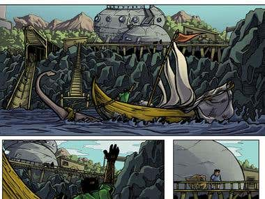 Comic page from my webcomic, 'Marty Flemming and the Dinosaurs' - trilobitegalaxy.com/mfatd