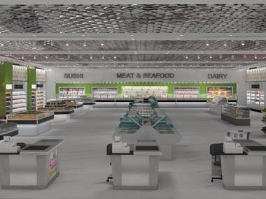 supermarket interior design