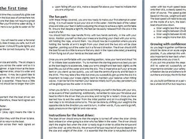 This is the sample of an article for a blog site.