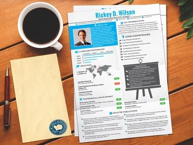 Professionally redesign your CV resume or cover letter