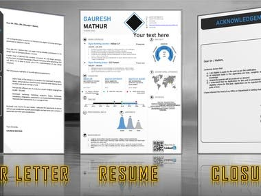 I will create or re-edit your new resume or existing resume to a new and fresh look in a professional way.