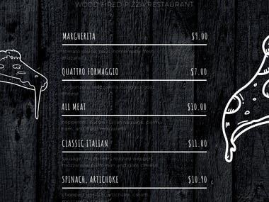 PROFESSIONAL MENU DESIGNS FOR YOUR RESTAURANT,PIZZERIA,COFFEE BAR ...
