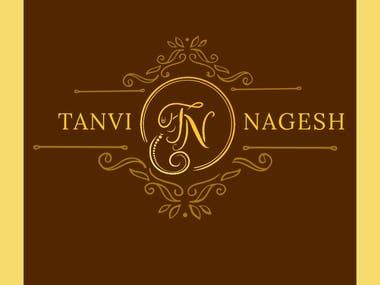 Special wedding logos designed using initials of bride and groom names.