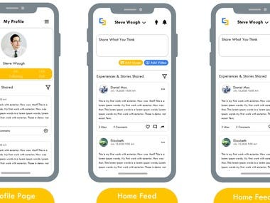 An app which has a simple look with gorgeous design