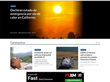 La Noticia, Inc., is a news and information organization in digital and print which is using custom made. WordPress theme from the XD design provided by the client.   Check the site here: https://www.lanoticia.com/