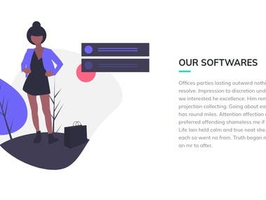 It's a simple static landing page. Developed by using Bootstrap and custom CSS.