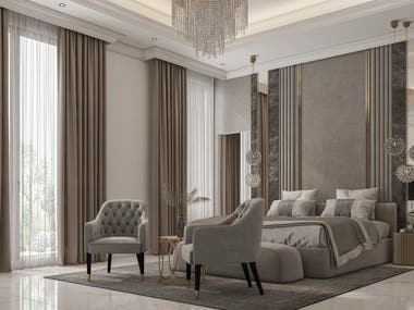 Interior design for villa in UAE