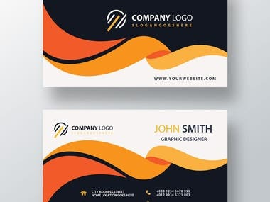 I will do fully customizable corporate and professional and minimalistic business card