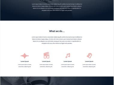 A responsive website created from a designed mockup. Pure CSS (no bootstrap)