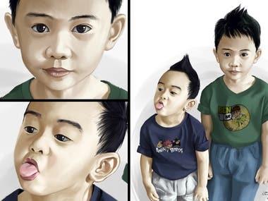 Semi Realistic illustrations