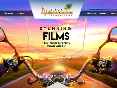 We have done this website for Keshva production This is an film production company produced the films they want to show the  information about company.  We have used Bootstrap /Html5,css,js ,jquery, parallax effects
