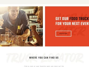 Restaurant site(using Wordpress)