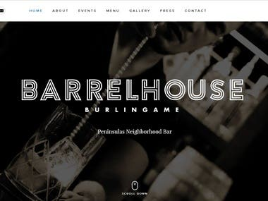 A WordPress event based site