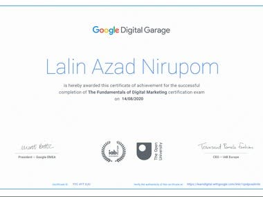 I have learned and earned the certificate. It demonestrates about 1. Content marketting 2. keyword research 3. digitak marketing 4. how to create seo friendly content 5. search engine marketting. etc