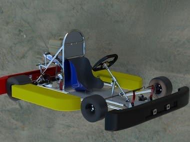 Go-kart design under a 1-month internship