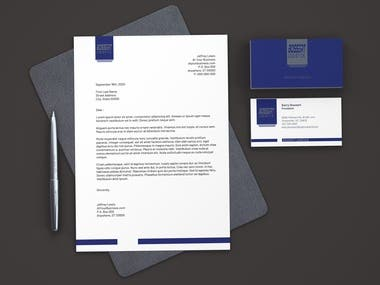 Professional Letterhead with Business Card