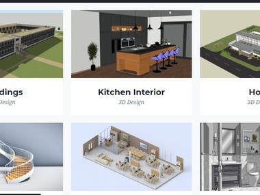This is is the portfolio of the architecture website. I put on thumbnail these pictures.