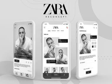 Challenging myself to design more e-commerce experiences. This design minimalistic mobile concept ZARA APP for a product details page. This is the redesign of the ZARA APP.