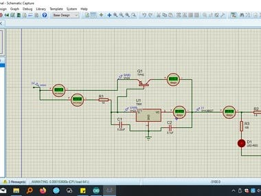 There are two traffic light design implemented in Altera Quartus using vhdl and schematic model. The other traffic light design uses only gates and I have done simulations in Proteus. The last project is a 7805 voltage regulator with derivation for increment the output current.