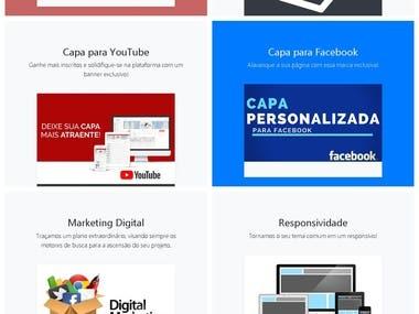 Site empresarial criado pela Agência Paranhos