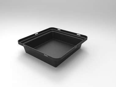 For these project I had to design a LED light tray, I was for be builded by ABS thermoformed.