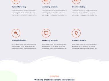 A beautiful website design for a digital service Company